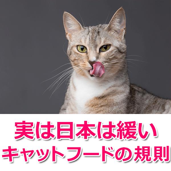 実は日本は緩いキャットフードの規則