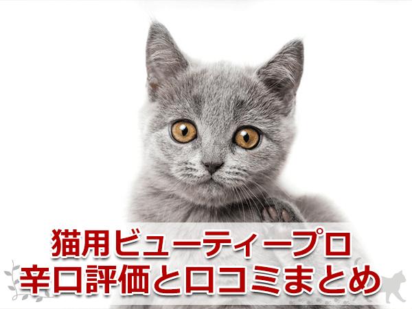 猫用ビューティープロ辛口評価と口コミまとめ
