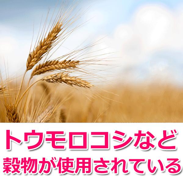 トウモロコシなど穀物が使用されている
